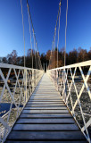 Cambus O'May  Suspension Bridge - from the top