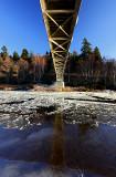 Underneath Cambus O'may bridge