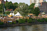 Beach Clubs on the Elbe river
