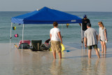 Tents/Canopies abandoned at Navarre Beach