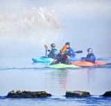 Kayaks in the Fog