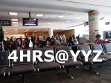 4 hours at YYZ