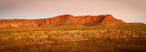 Bungle Bungle Ranges at dusk panorama
