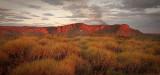 Glowing Red Bungle Bungle Range at sunset