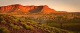 Bungle Bungle range in the setting sun