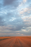 Namib Desert Road Cloudscape