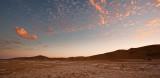 Walvis Bay dunes and dusk cloudscape