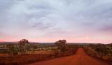 Karijini Red Dirt Road Dawn Cloudscape
