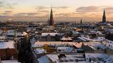 Snowy rooftops of Copenhagen
