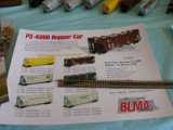 NEW from BLMA: N scale PS-4000CD Covered Hopper