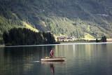 fisherman on lake Silser See