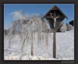 Black Forest Winter Landscape with Crucifix