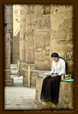 Studying at Karnak Temple