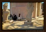 Having a break in the temple of Karnak