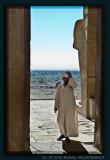 Entering the temple of Hatshepsut