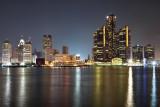 Detroit Skyline - After Fireworks