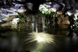 Winter Waterfall at Night