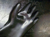 Glowing Glove at World's First Nuclear Power Plant, Idaho