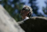 Belaying on Bruces Boulder