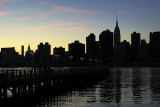 by East River after sunset