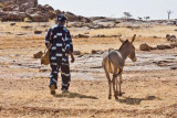 Dogon Man with a Donkey