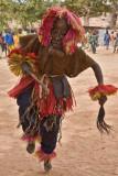 Dogon Dancer in Goiter-Man Mask