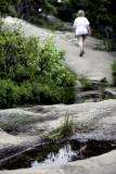 Hiking the Mountain Trail Above Sand Beach