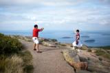 Tourists on Cadillac Mountain Path