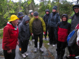 Regnpromenad på ön