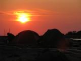 Solnedgång över tälten N6