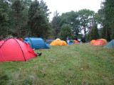 Delar av tälten på Stora Hästnacken