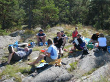 Lunch på Långskär