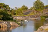Fina små laguner i närheten av vårt läger.