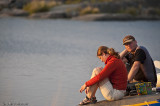 Bengt & Ingrid filosoferar på en klippa.