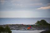 Vår udde på Vidskär, lite blåsig, bättre fanns 100 meter söderut....;-)