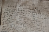 Dagboksanteckning på väggen från 52...