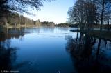 vacker miljö under vår promenad runt sjön.