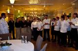 De 12 kockarna som gjorde det presenterades 00:30 då middagen var avklarad....