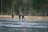 Isen funkade på stora delar av sjön...