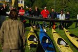 Mats från Thae kayaks hade flera spännande modeller med sig.