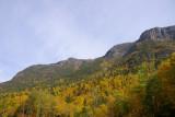 en haut de la montagne.