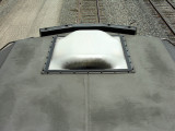 antenna housing cover and cab roof