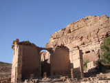 Qasr Al-Bint against the rocks Petra Jordan.jpg