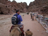 Riding out of Petra on a camel.jpg