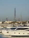 JBH Marina and Burj Dubai.JPG