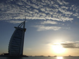 Burg Al Arab Cotton Clouds Dubai.JPG