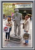 Albert Stone. The living statue