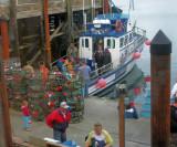 The 42 Foot Sea Pirate Docks Alongside