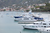 Some of the yachts in St. Thomas