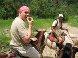 Eating a Guava while on Horseback